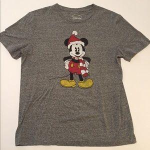 Official Disney Mickey Mouse Santa Hat T-Shirt